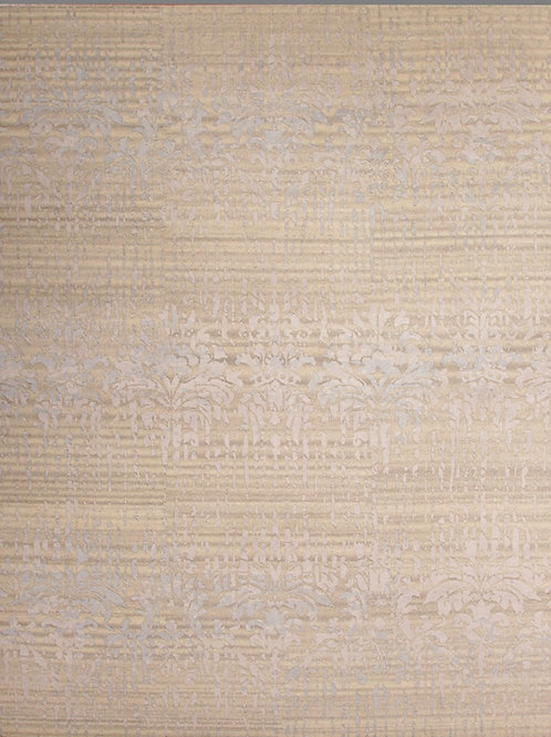 Handmade Viscose and Wool Tibetan Design Rug | 9 x 12
