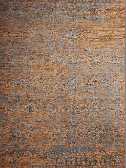 Handmade Silk and Wool Rug | 7.1 X 9.8