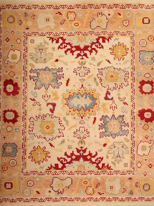 Wool Indo Oushak Rug | 8.1 X 9.9