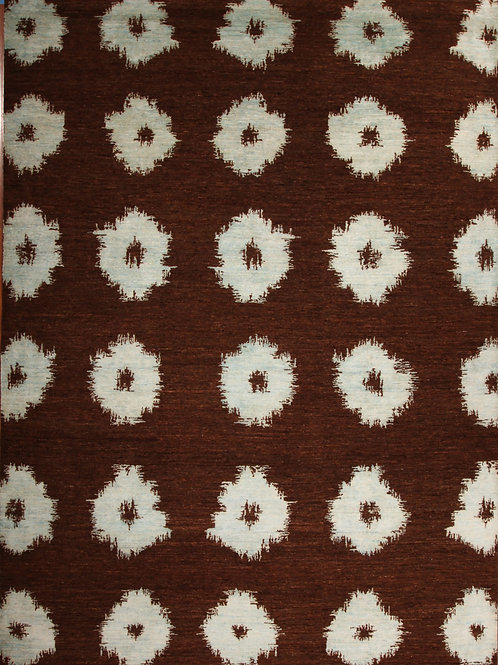 Wool & Viscose Indian Rug   8.11 X 12.7