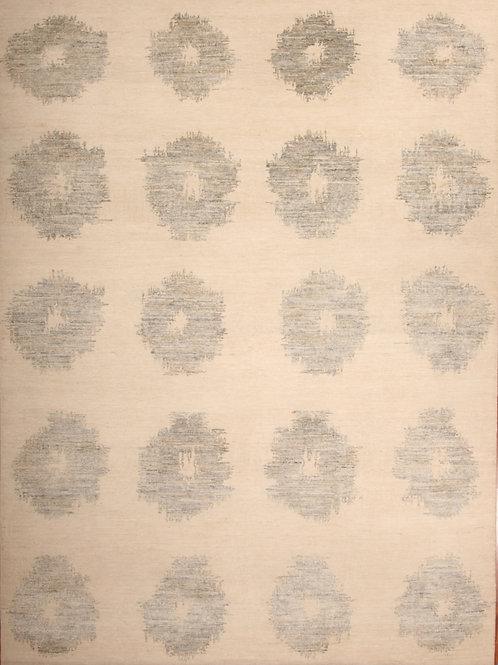 Silk & Wool Indian Rug | 7.7 X 10.5