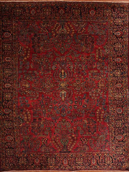 Wool Antique Persian Rug Saruk | 8.9 X 11.1