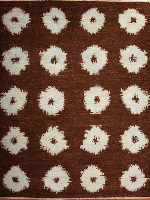 Silk & Wool Indian Rug   8.1 X10.2