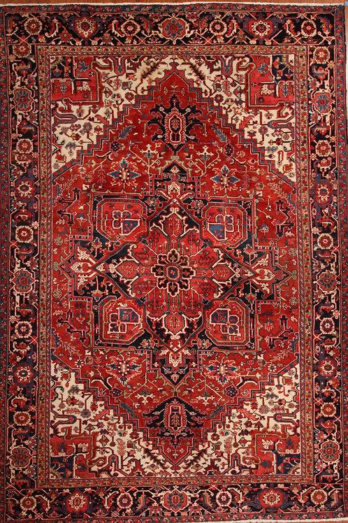 Wool Persian Rug Heriz   8.3 X 12.0