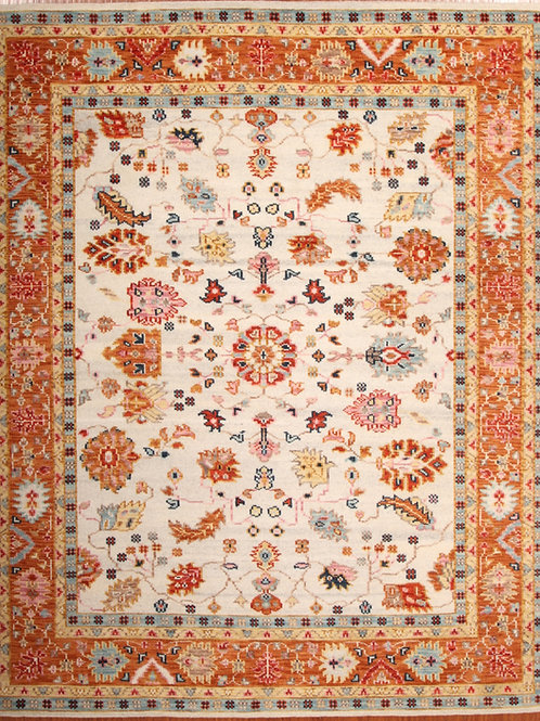 Wool Indian Rug_ Soltanabad Design | 8.1 X 10.2