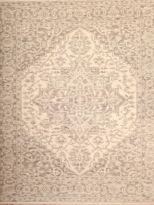 Viscose Indian Rug Heriz Design | 8.2 X 9.10