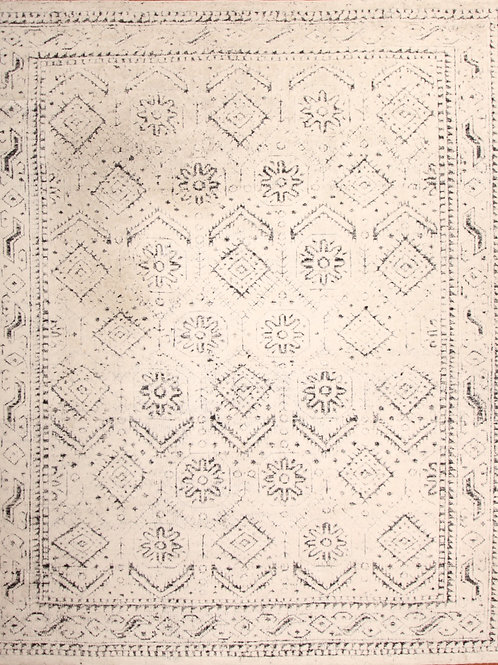 Viscose Indian Rug Moroccan Design | 8.0 X 10.0