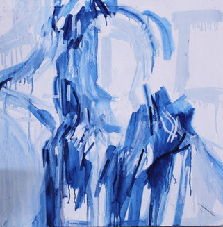 (2019) Abstract Blue Figure. [Oil on canvas]. UK