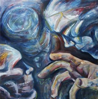 (2014) Meeting Source. [Oil on MDF]. Sleep Paralysis Series. Bahrain