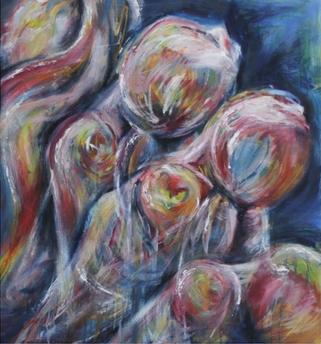 (2014) Falling. [Oil on MDF]. Sleep Paralysis Series. Bahrain