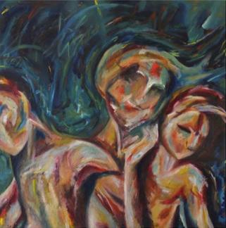 (2014) Visitations. [Oil on MDF]. Sleep Paralysis Series. Bahrain