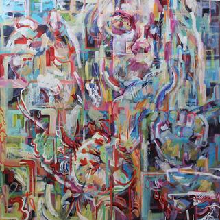 (2020) Shifting Structures. [Oil on canvas].  Quarantine Paintings. Farnham, UK