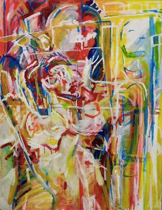 (2016) Raw Yellow II. [Oil on canvas, 915cm x 71cm]. Farnham, UKStockholm, Sweden.