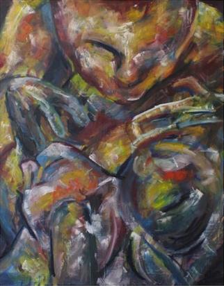 (2014) Fiend. [Oil on MDF]. Sleep Paralysis Series. Bahrain