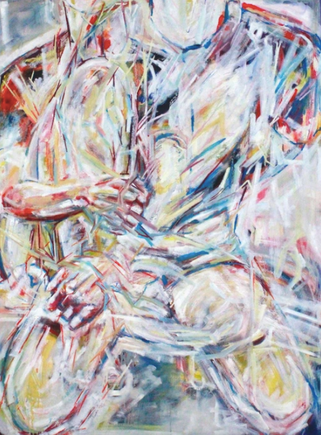 (2017) On Your Knees. [Oil on canvas, 122cm x 91cm]. Farnham, UK