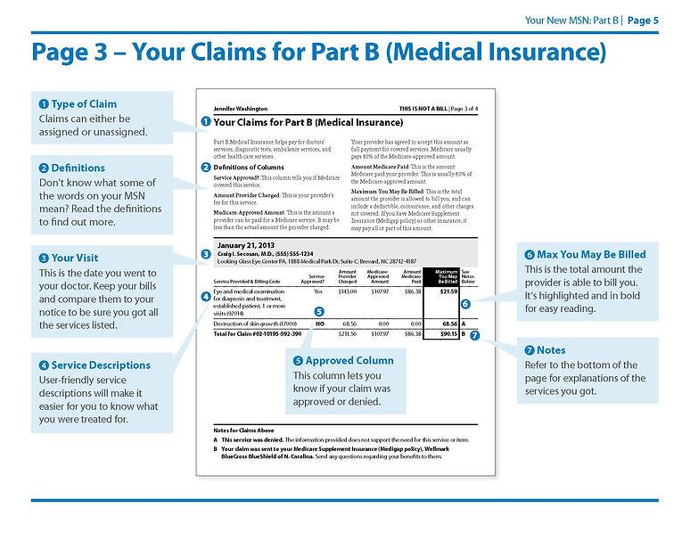 Medicare Summary Notice Part B Page 3