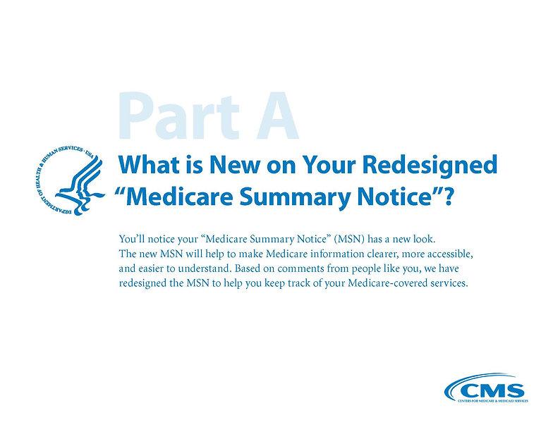 Medicare Summary Notice Part A Page 1