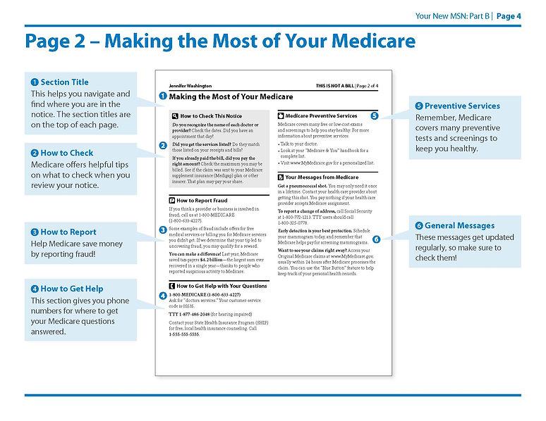 Medicare Summary Notice Part B Page 4