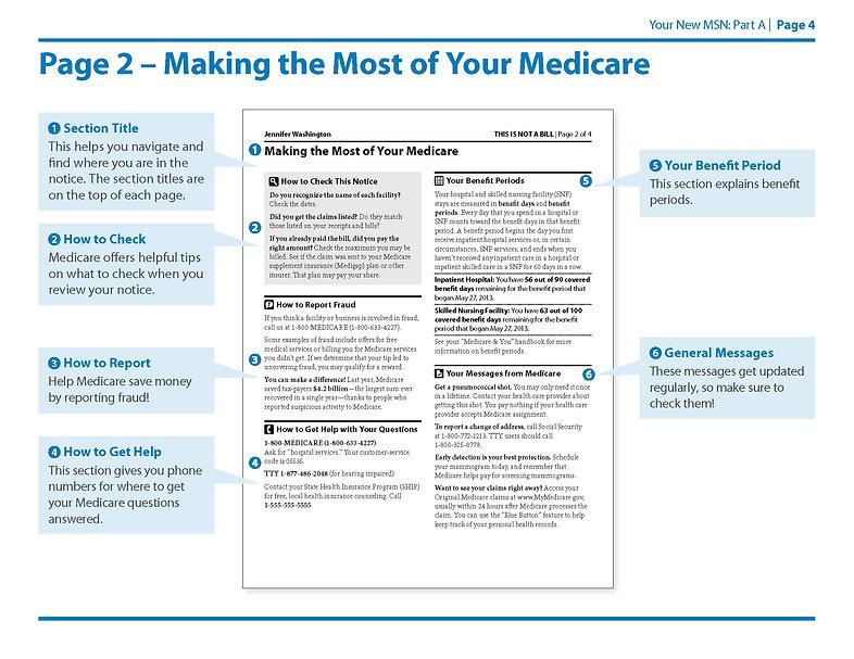 Medicare Summary Notice Part A Page 4