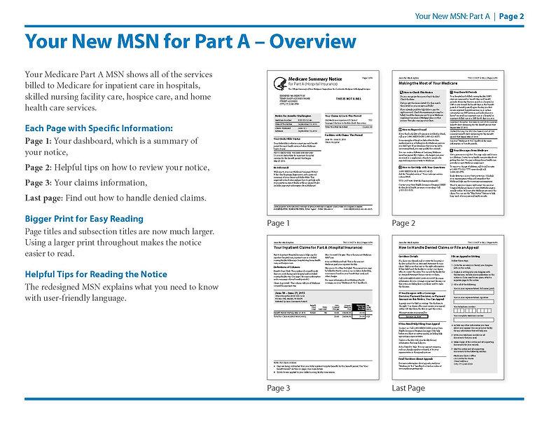 Medicare Summary Notice Part A Page 2