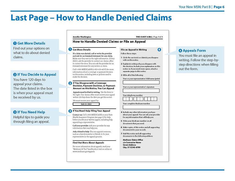 Medicare Summary Notice Part B Page 5