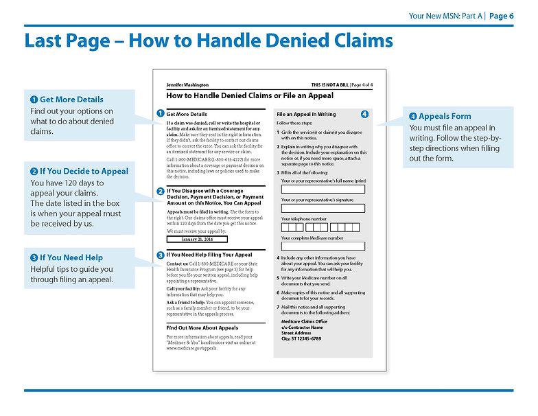 Medicare Summary Notice Part A Page 6