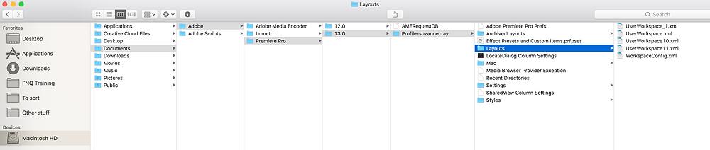 workspaces folder