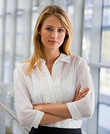 Professional woman gaining promotion through brain training