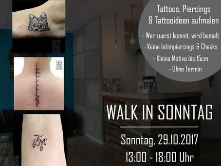 WALK IN SONNTAG, 29.10.17