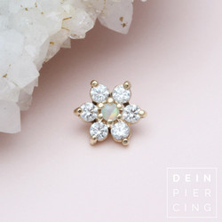 Blumenpiercing Gold