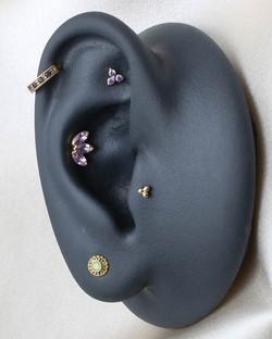 Curated Ear Amethyst