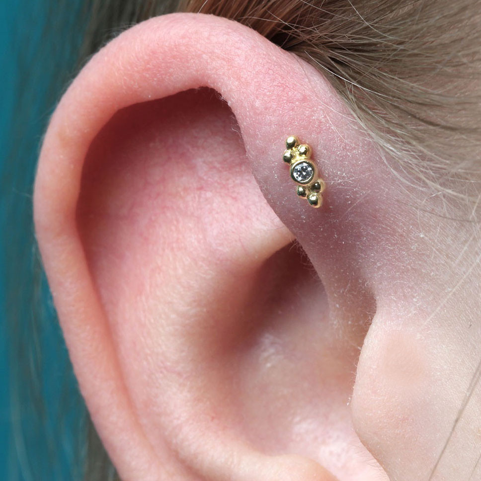 Forward Helix Piercing Schmuck Gold
