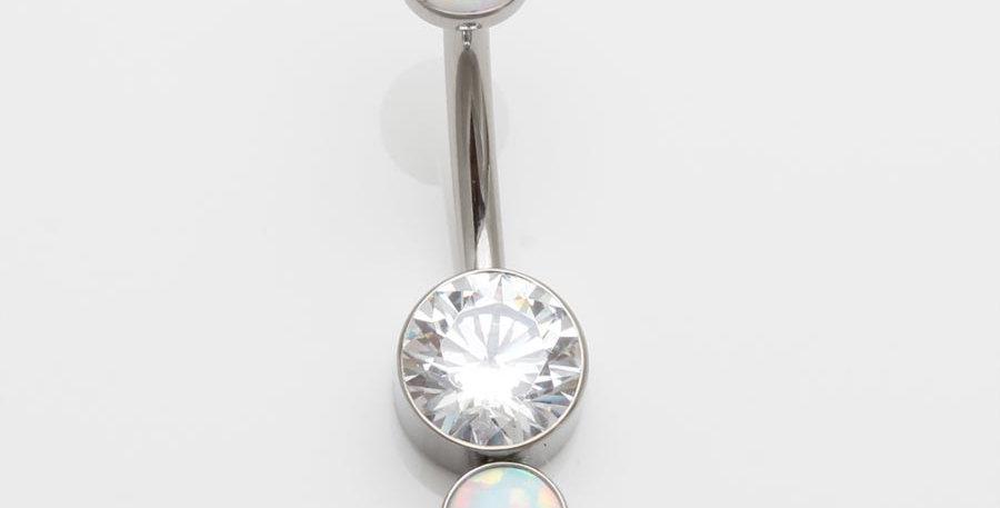 Bauchnabelpiercing Opal