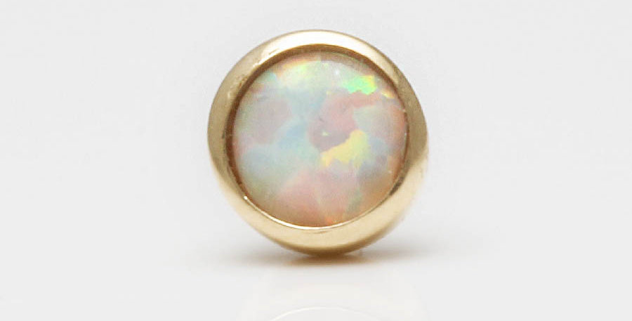 Opal Piercing Gold