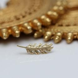 Gold Feder Piercing