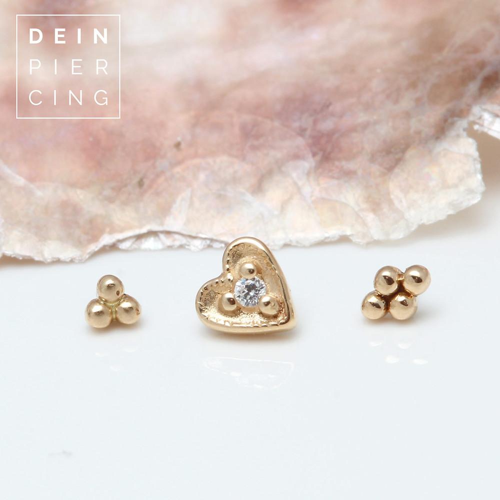 piercingschmuck gold