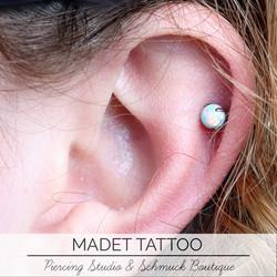 Opal Helix Piercing