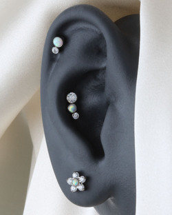 Curated Ear Bright Opal