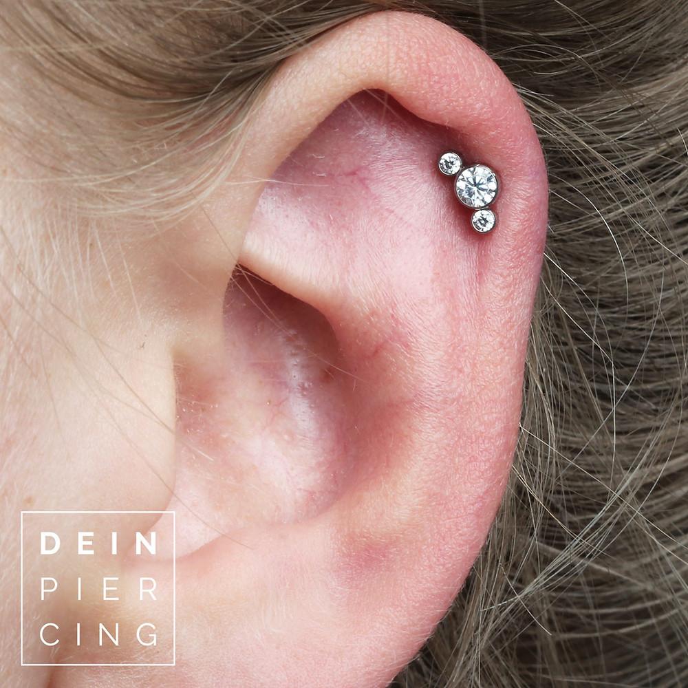 Piercing entzündet helix Helix nach