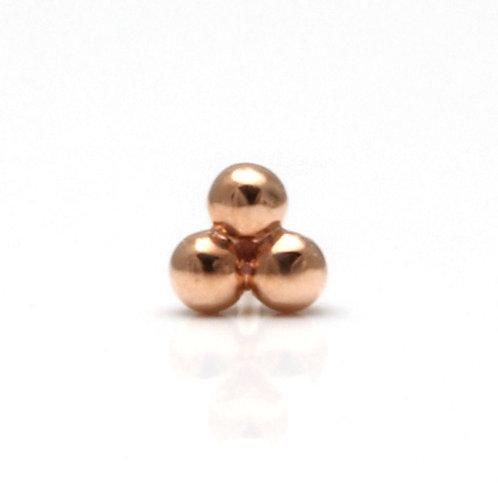 Rosegold Tri Bead