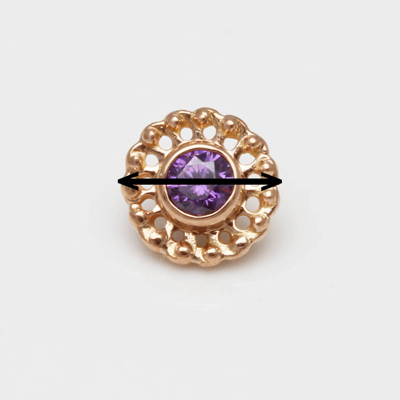 Durchmesser Piercingschmuck Rosegold