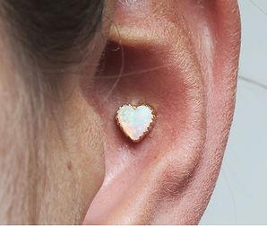 Anatometal Heart Conch Piercing