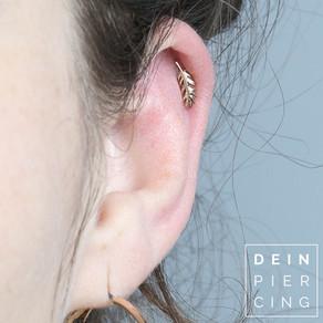 Abheilung von Ohr Piercings