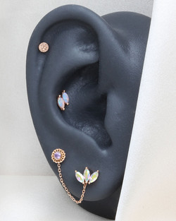 Curated Ear Warm Rosegold