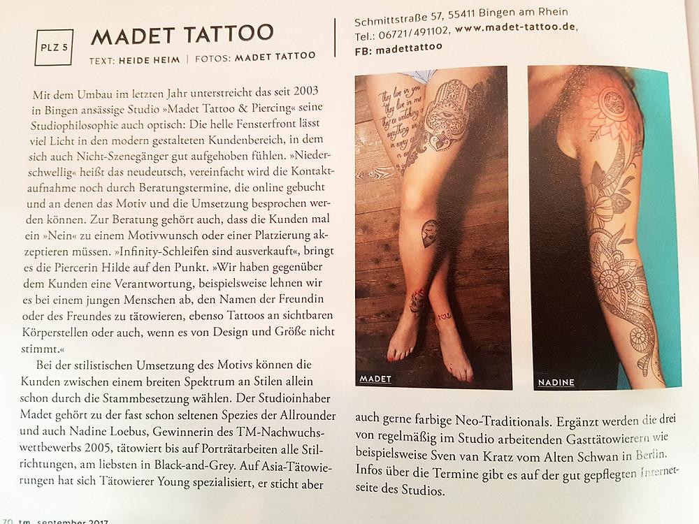 Madet Tattoo Tätowier Magazin