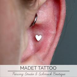 Conch Heart Piercing