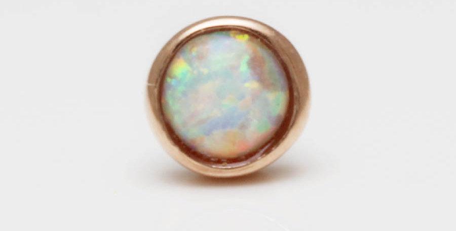 Rosegold Opal Piercing