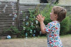 Bubble fun in the garden