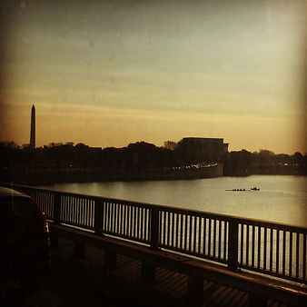 sunrise over dc from virginia
