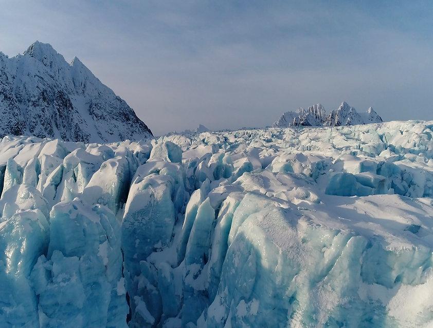 Glacier photography ice winter